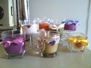 colored candles